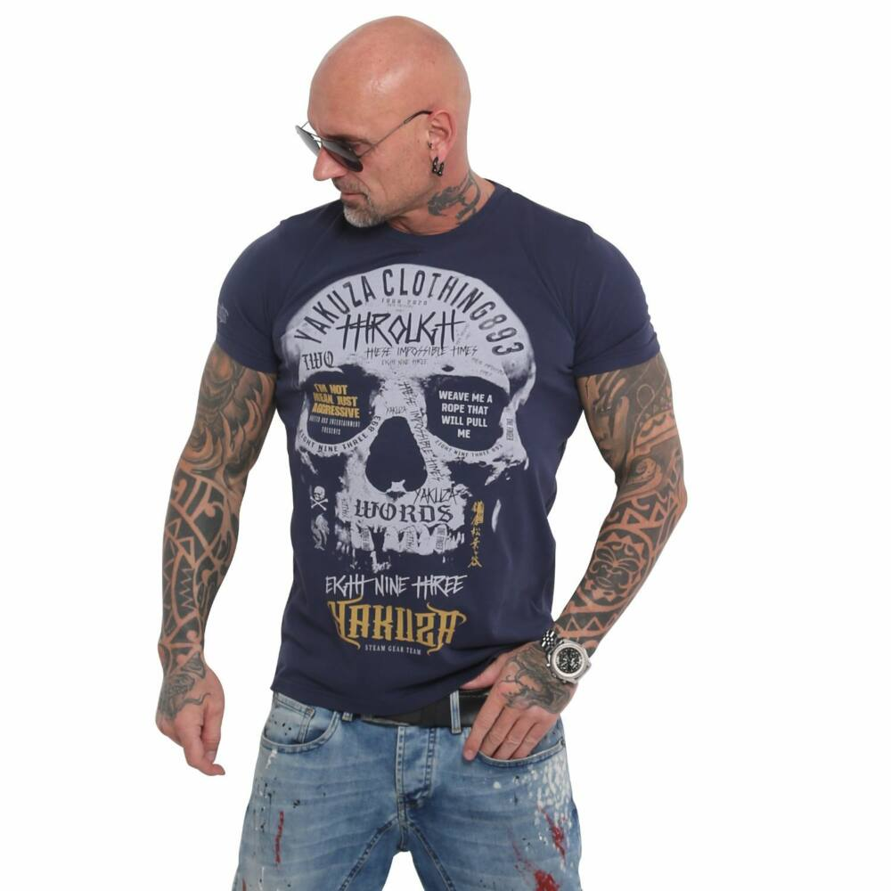 Through Skull T-Shirt, Sötétkék