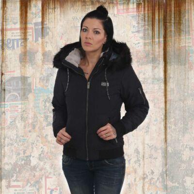 Díszes Fekete Női Téli Kabát
