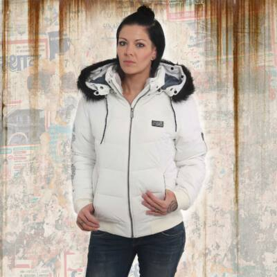 Díszes Fehér Női Téli Kabát