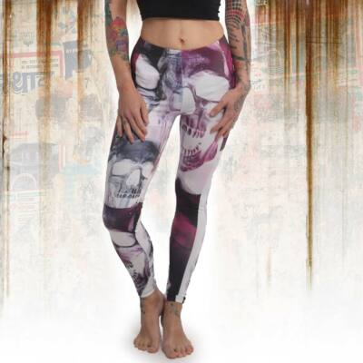 """Purple Skull"" Leggings"